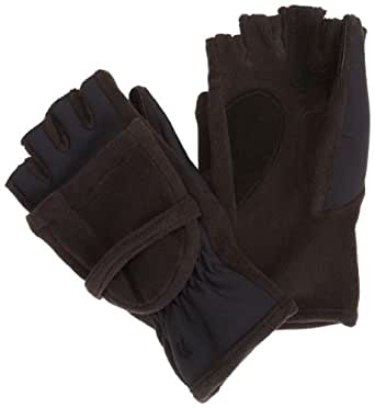 Isotoner Women's Hybrid Convertible Fingerless Glove,Black,X-Large