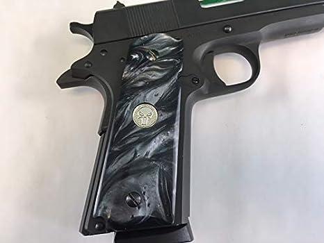 Amazon com : Premium Gun Grips 1911 Black Pearl Colt Gov  & Clones