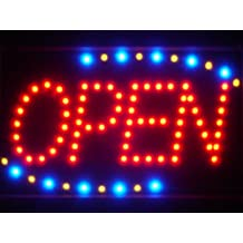 ADV PRO led001-r Red OPEN Classic LED Neon Business Light Sign