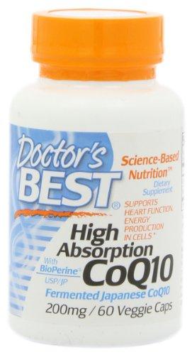Best High Absorption CoQ10 du médecin (200 mg), capsules végétales, 60-Count