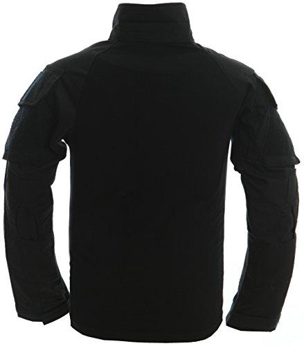 TACVASEN T-Shirt en Coton à Manches Longues pour Hommes avec Poches - Outdoor - Militaire 2