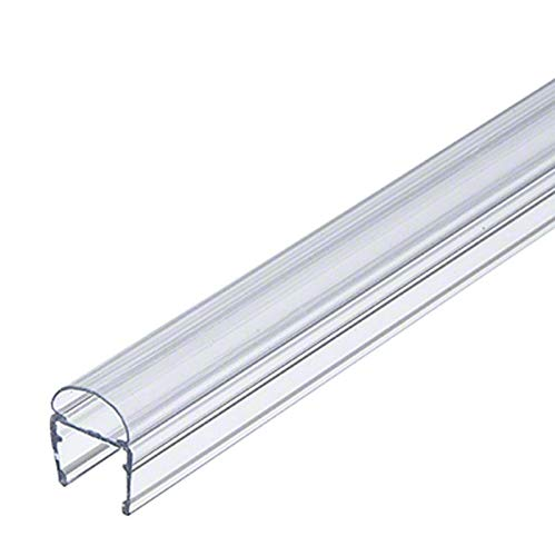 Gordon Glass Co. Universal Clear Polycarbonate U-Channel with Soft Vinyl Bulb Seal for 3/8
