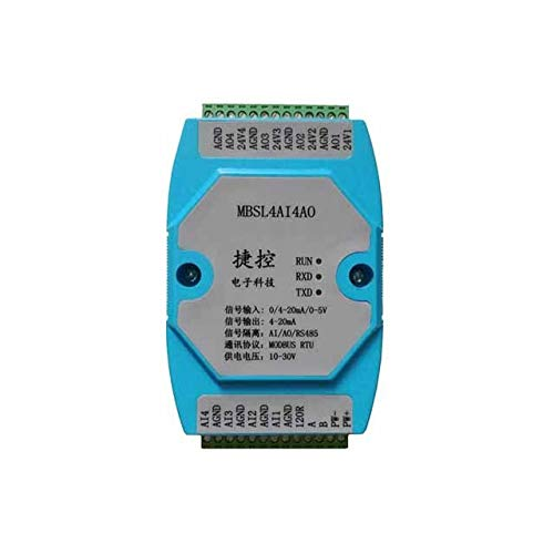 2PCS 4AI//4AO 0-20MA//4-20MA//0-5V 4 Road Analog Input Output Data Acquisition Module RS485 MODBUS AD//DA chip Industry