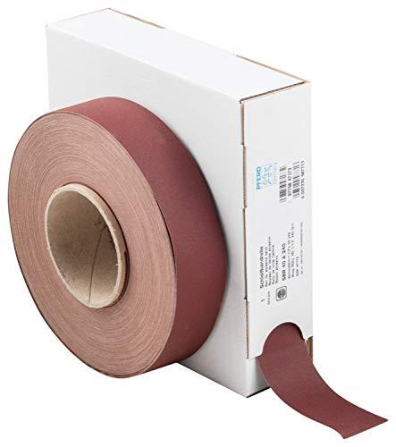 240 Grit 50 yd PFERD 47173 Heavy-Duty Abrasive Shop Roll Length x 1-1//2 Width Aluminum Oxide