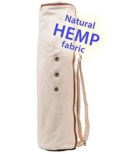 - Meru Yoga Mat Bag Premium Yoga Mat Carrier - Yoga Bags and Carriers for Women and Men - The Original 'Yoga Smart Bag' (Large Yoga Bag) - (Natural Hemp)
