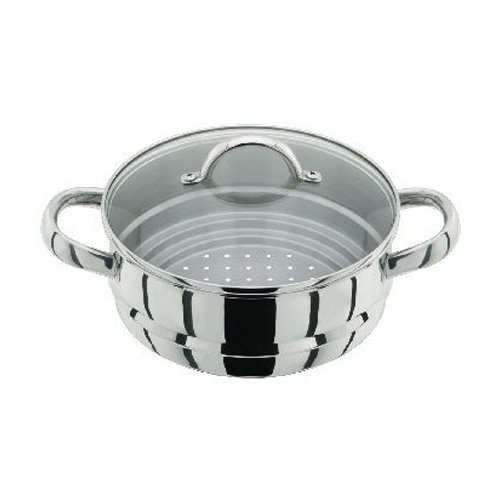 Judge Steamer Insert with Glass Lid, Silver, 16/18/20 cm Horwood JX12