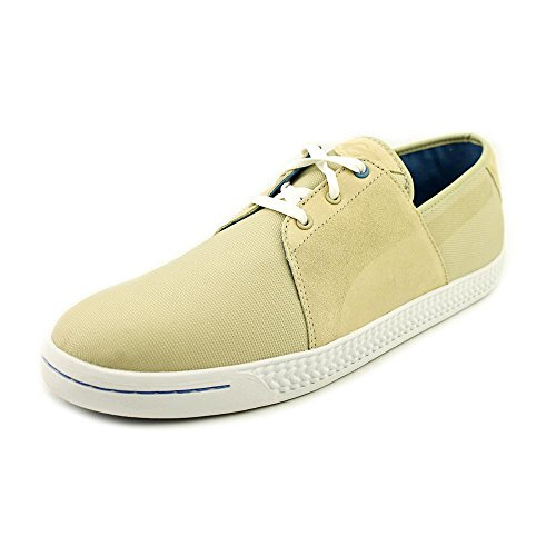 Puma Men's Leedster Mini Lace Pale Khaki/White Low Top Fashion Sneaker - 12M