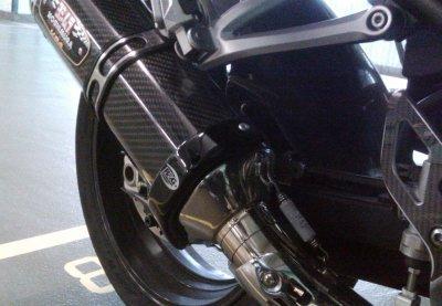 R/&G RACING BLACK YOSHIMURA R-77 EXHAUST PROTECTOR EP0011BK