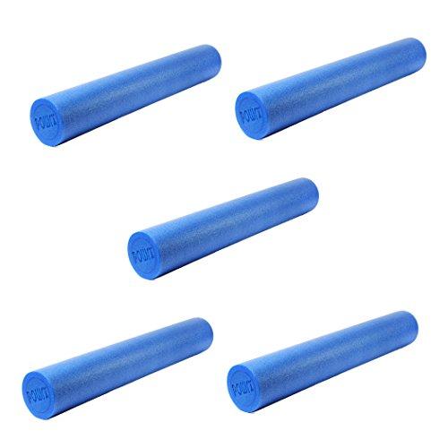 Yoga-Rolle EPS Material 5er Set / Pilates-Rolle / Schaumstoff-Rolle / Foam-Roller 90 cm x 15 cm Faszienrolle