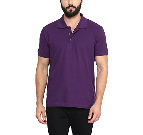 Aventura Outfitters Men's Polo Collar T Shirt (Deep Purple)