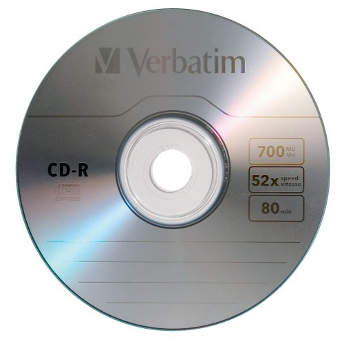 Verbatim CD-R 700MB 52X with Branded Surface, 100-Disc Spindle FFP 97458