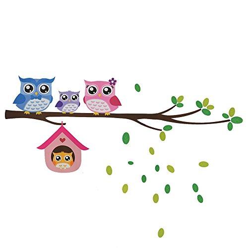 Cheap  EORTA Decor Mural Wall Stickers for Kids Room Cute Cartoon Owl Birds..