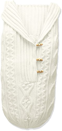Toby & Company Baby Nygb Cable Knit Button Down Snuggle Sack, Ivory, Newborn
