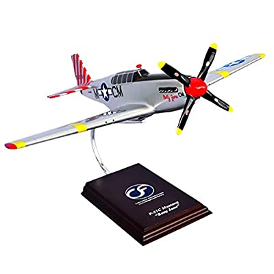 "Mastercraft Collection North American Plane w/ Rolls-Royce Engine P-51D Mustang ""Betty Jane"" Airmen Model Scale:1/24"