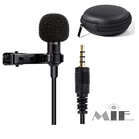 Deluxe Lavalier Lapel Microphone for iPhone / Android - Drum Kit Microphone System