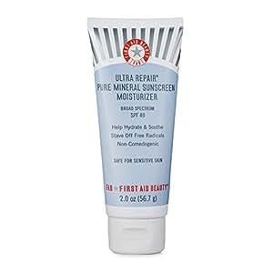 First Aid Beauty Ultra Repair Pure Mineral Sunscreen Moisturizer SPF 40, 2 oz
