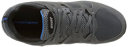 Skechers Jungen Vim Turbo Ride Sneaker, Black Red Grau - Gris (Gris/Gris)