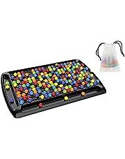 herommy Regnbåge boll eliminering spel 241 st Colorrow Rainbow Bead Game Rainbow Puzzle schack färg kognitiva färdigheter leksak skrivbord pussel leksak för barn vuxna