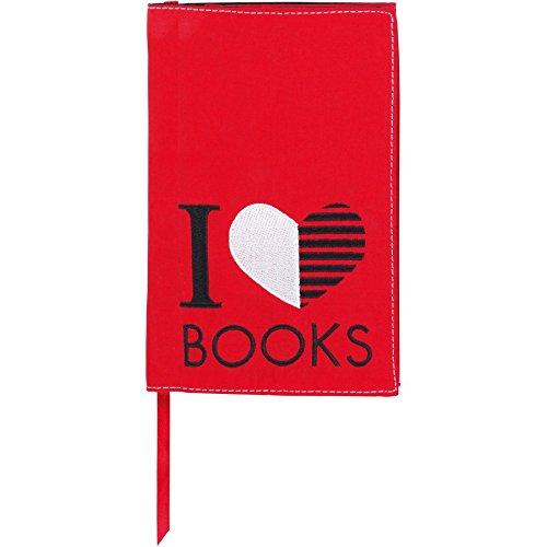 moses. Verlag 81969 libri_x - Custodia protettiva per libro, motivo decorativo:I love Books, taglia S moses. Verlag GmbH