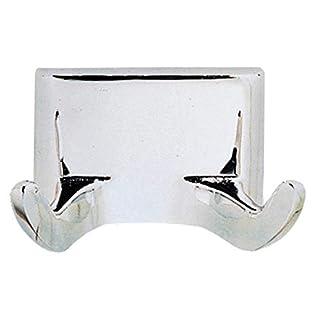 Design House 533059 Millbridge Double Robe Hook, Concealed Screws, Polished Chrome, One Size