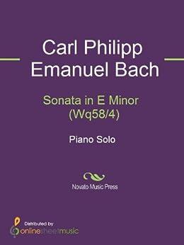 Sonata in E Minor  (Wq58/4) by [Bach, C.P.E.]