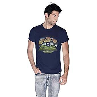 Creo Almaty T-Shirt For Men - M, Navy Blue