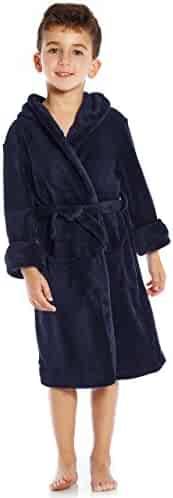 Leveret Boys Girls Solid Fleece Sleep Robe (Size 2-14 Years) Variety Of Colors