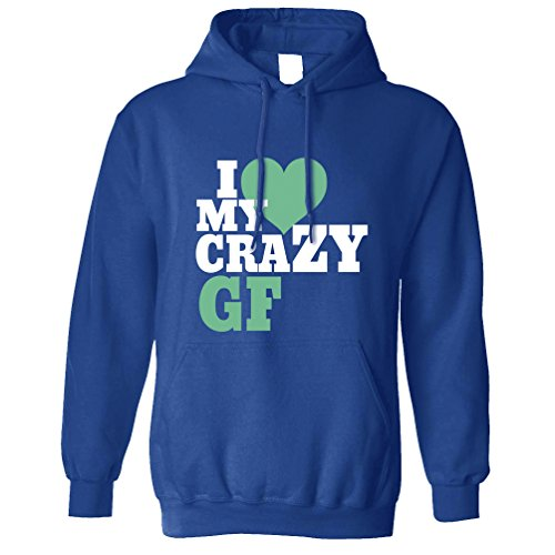 Tim And Ted I Love My Crazy Gf Girlfriend Anniversary Heart Love Partner Unisex Hoodie
