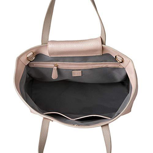 34df92b762 DUDU Shopping Bag donna Shopper grande in Vera Pelle a 2 manici Borsa a  tracolla regolabile e staccabile Nude/Sabbia: Amazon.it: Valigeria