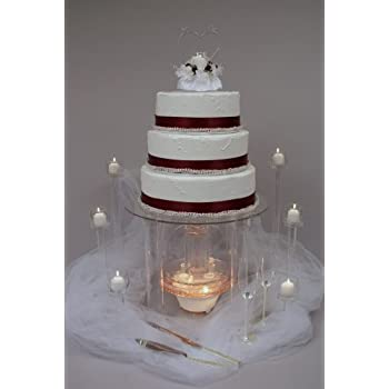 water fountain wedding cake acrylic cake stand stand bakeware 21676