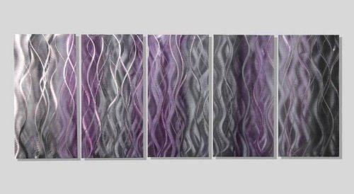 Amazon.com: Extra Large Mesmerizing Silver, Purple & Black ...