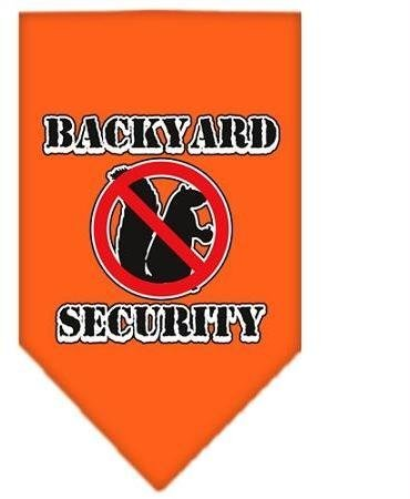 Backyard Security Screen Print Bandana Orange Large Case Pack 24 Backyard Sec... by DSD
