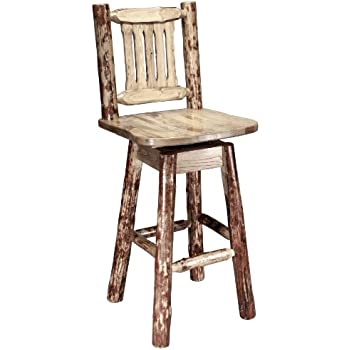 Montana Woodworks Glacier Country Collection Barstool with Back and Swivel Ergonomic Wooden Seat  sc 1 st  Amazon.com : ergonomic bar stool - islam-shia.org