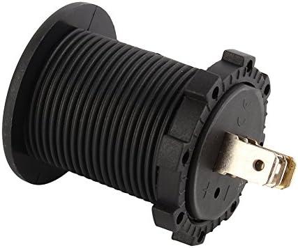 Car Voltmeter Ammeter 12-24V Dual LED Digital Voltmeter Ammeter Voltage Red LED Display for Car Motorcycle Boat Environment Nylon