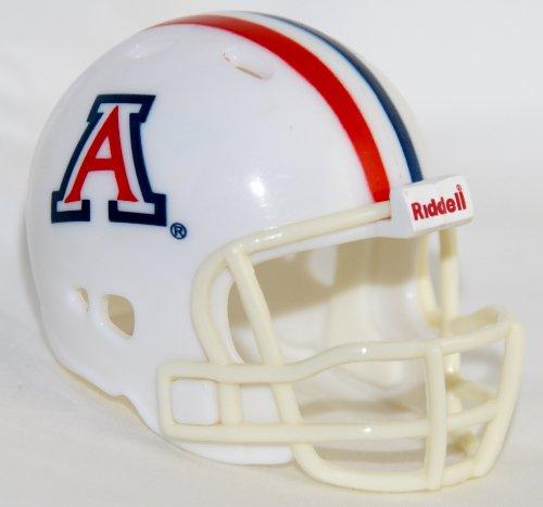 Riddell NCAA Arizona Wildcats Helmet Pocket ProHelmet Pocket Pro VSR4 Style White, Team Colors, One Size - Ncaa Arizona Wildcats Helmet