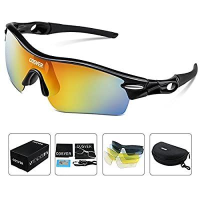COSVER Polarized Sport Sunglasses for Mens Women Cycling Running Fishing Glasses