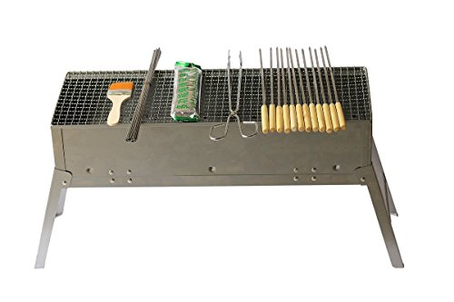 Stainless Portable Griller Charcoal Yakitori