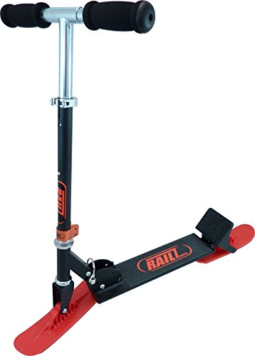 Railz Youth Recreational Snow Kick Scooter - Black & Red, Best Youth Compact Kick SnowScooter, Best...
