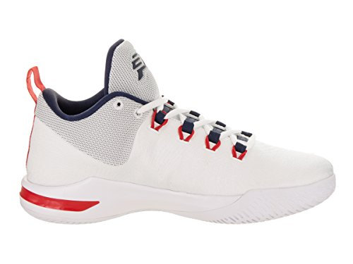 Jordan Nike Mens Cp3.x Ae Wit / Midnight Marine Basketbalschoen 10 Heren Ons