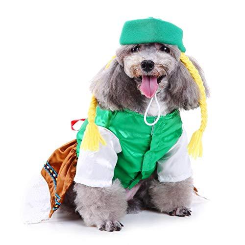Biback Dog Costume Cute Adjustable Santa Claus Clothes Pet Hoodie Coat for Small Medium Large Dog Creative Halloween Dog Costume Clothes Pet Costume Bar Waitress with -