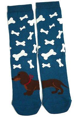 Traje de neopreno para mujer azul de perro salchicha y multitud de talla única calcetines Bones: Amazon.es: Ropa y accesorios