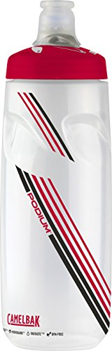 CamelBak Podium Water Bottle, 24 oz, Clear Red