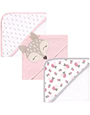 Hudson Baby Unisex Baby Cotton Rich Hooded Towels, Fawn, One Size