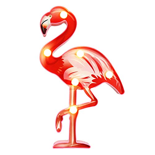 LED Flamingo Marquee Sign Night Light, Flamingo Ornament Toy Gift for Summer Party Holiday Home Bedroom Baby Room Decoration (Pink) -