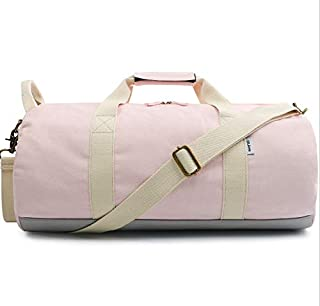 AHIMITSU Emballable Sac de Sport en Toile de Grande capacité en Plein air Sac de Sport Weekend Travel Weekend (Rose) pour Le Sport
