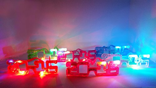6 Piece Best Discounted 2016 Adult Party Supplies Rave Party - Flashing, Blinking, Light up Glass with Party Favors in Assorted (Hopper Ticket)