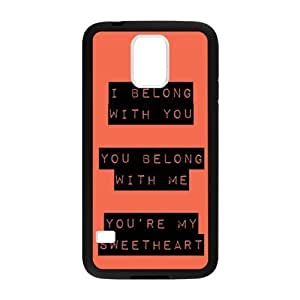 Romantic Valentine's Day Gift - Samsung Galaxy S5 SV Protective Case - Love Quotes I Belong with You, You Belong with Me, You're My Sweetheart TPU(Laser Technology) Hardshell Cell Phone Cover Case for New Samsung Galaxy S5 SV
