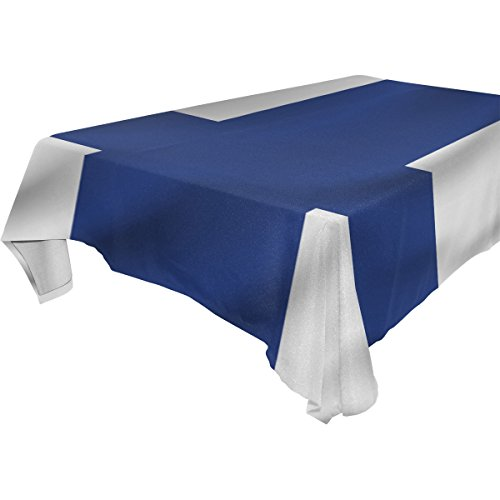 (Finland Flag 100% Polyester Tablecloth Table Cover for Dinner Parties Picnic Kitchen Home Decor,)