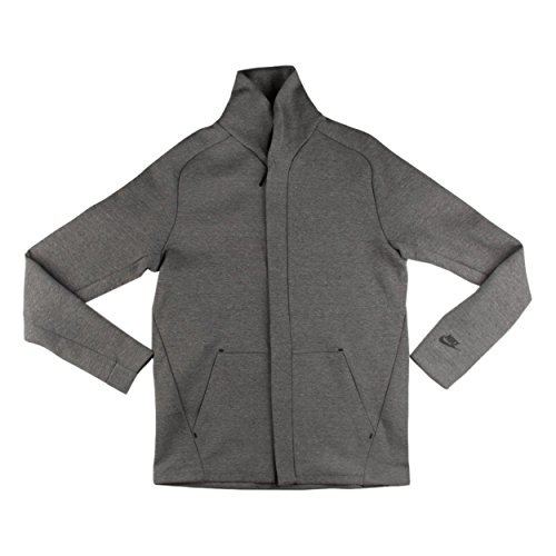 Nike Men's Sportswear Tech Fleece Jacket Carbon Heather/Black (Large)