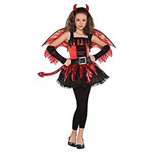 Fun World Fiery Devil Costume for Girls Choose Size